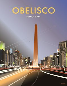Obelisco, Buenos Aires poster Artist: Dave Thompson