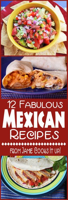12 Mexican Recipe from Jamie Cooks It Up!