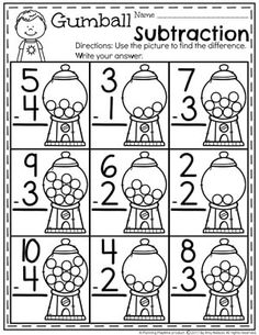 Subtraction Worksheets - Planning Playtime : Kindergarten Math Worksheets - Subtraction Under Do you need fun Subtraction Worksheets and hands-on Subtraction Centers? You are going to LOVE this awesome kindergarten math unit! Subtraction Kindergarten, Subtraction Activities, Kindergarten Math Worksheets, School Worksheets, Teaching Math, Math Activities, Teaching Geography, Math Math, Math Tutor