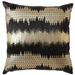 Nate Berkus Foil Print Decorative Pillow Black/Gold