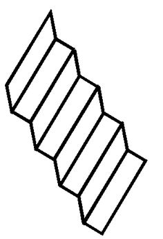 Stare at the Reversing Staircase Illusion until  it changes to a different staircase.
