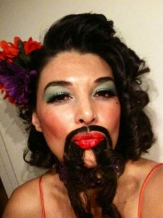 When it comes to H'ween costumes, I don't mess around ~ Bearded  Lady
