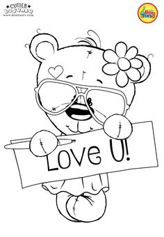 Cuties Coloring Pages for Kids – Free Preschool Printables – Slatkice Bojanke – Cute Animal Coloring Books by BonTon TV Valentine Coloring Pages, Cute Coloring Pages, Animal Coloring Pages, Coloring Books, Free Adult Coloring, Coloring Pages For Kids, Kids Coloring, Coloring Pages For Teenagers, Free Printable Coloring Sheets