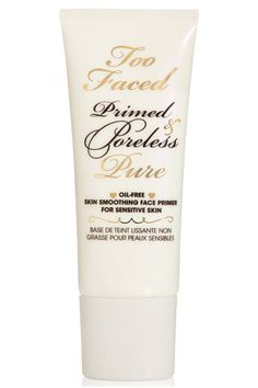 Too Faced Primed & Poreless Pure Skin Smoothing Face Primer If you find that your foundation and powder has all but disappeared by mid-day, this primer locks in both for hours. The retinol blend regulates excess oil production, wicking away grease that can dissolve makeup but without drying out your skin. Too Faced Primed & Poreless Pure Skin Smoothing Face Primer, $30, toofaced.com.