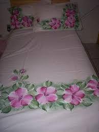 Resultado de imagem para pintura em tecido lençol de solteiro