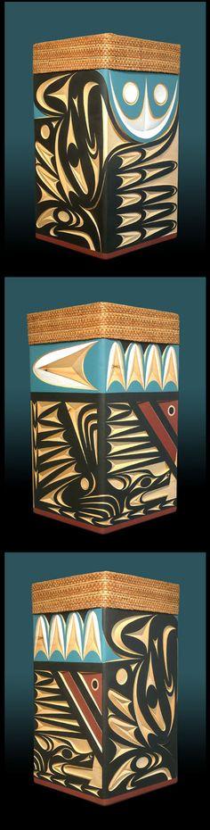 John Marston ( Coast Salish )  - Tzinquaw and Thunderbird Bentwood Box