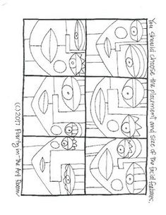 Art Roll- Abstract Portrait by Party in the Art Room Abstract Face Art, Abstract Portrait, Art Lessons For Kids, Art For Kids, Cubism Art, Picasso Art, Art Therapy Activities, Middle School Art, Elements Of Art