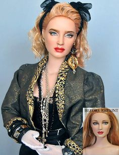 I was commissioned to create this Madonna doll by an ardent British fan of Madonna, and I simply could not resist the opportunity.