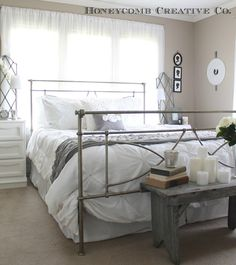 Clean Cottage Decor Home Tour. Soothing grays and whites
