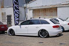 Audi A4 B8 Avant on S-line wheels - Low