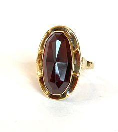 Antique 14 K Yellow Gold Garnet Ring Dutch European 585 14K | Etsy Real Gold Jewelry, Garnet Jewelry, Garnet Rings, Vintage Jewelry, Statement Jewelry, Garnet Stone, Red Garnet, Blue Choker, Jewelry Gifts