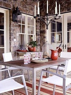 Patio dining with an Old World flair... ??b?