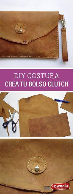 Tutorial DIY - BOLSO TIPO CLUTCH DE CUERO en DaWanda.es