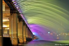 Banpo Bridge Rainbow Fountain, Seoul, South Korea