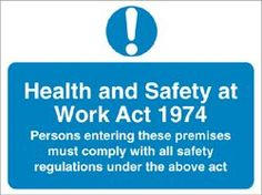 The Health & Safety at Work Act 1974 sets out health and safety guidelines and requirements so staff can spot hazards and work safely in the workplace. Sharon, Dona, Daniel