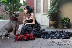 Pit Bulls & Parolees - Villalobos Rescue Center Tania & something Bluie :) xo pitbull bridesmaid - black wedding dress