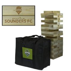 """Who can pull the last block without making the tower tumble?  This life-size version of the original tumbling tower game includes 54 laser engraved solid wood blocks, enough to stack your tumbling tower up to 5 feet high and comes with a convenient carry case.  Perfect for your next tailgate party, BBQ or backyard fun. FEATURES  54 Solid Wood Game Pieces Each Tumbling Block Measures 1.5"""" x 3.5"""" x 10.5"""" Hand Sanded for a Smooth Touch Stacks Up To 5 Feet High PVC Lined Carrying Case Included…"""