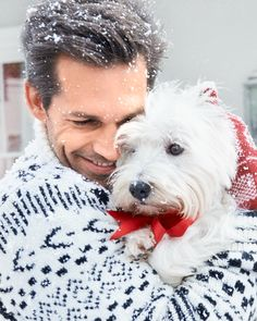 Man and Dog #holidayoriflame #behindthescenes