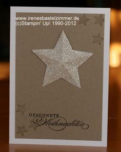 3D Stern-Weihnachtskarte-Glitzerpapier-Wunderbare Weihanchtsgrüße-Merry Minis-Stern-Weihnachten