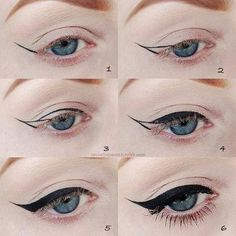 The most important part of the eye makeup is Eyeliner. It would not be wrong to say that eyeliner in fact complete the overall makeup looks. Diy Beauty Hacks, Beauty Hacks For Teens, Beauty Tricks, Beauty Ideas, Beauty Advice, Beauty Tutorials, Beauty Secrets, Beauty Make-up, Hair Beauty