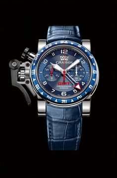 The Graham Chronofighter Oversize GMT Blue watch