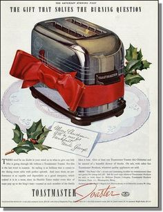 "Toastmaster ad  ""The Gift that Solves the Burning Question"" 1937"