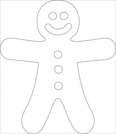 Gingerbread man template More Source by Christmas Art For Kids, Outdoor Christmas, Christmas Time, Christmas Crafts, Coloring Pages For Grown Ups, Coloring Pages For Kids, Diy Arts And Crafts, Felt Crafts, Gingerbread Man Template