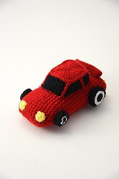 Race Car - Racecar - Car - Cars - Amigurumi Toy - CROCHET PATTERN No.62                                                                                                                                                                                 More