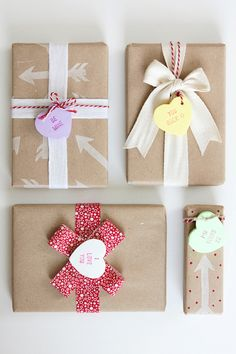 Love these DIY Heart Candy Gift Tags made using an X-ACTO knife!