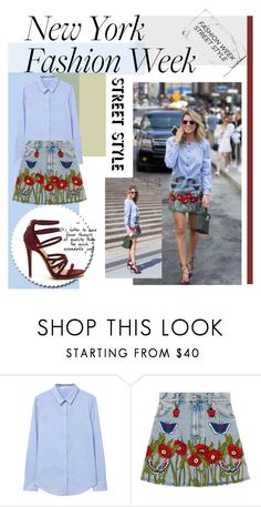 """""""New York fashion week"""" by thearolandsson-1 ❤ liked on Polyvore featuring MANGO, Gucci, StreetStyle and NYFW"""
