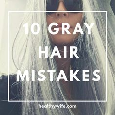10 Gray Hair Mistakes Everyone is making. Gray hair needs special attention to l… 10 Gray Hair Mistakes Everyone is making. Gray hair needs special attention to looks its best. Get all the gray hair tips so you can look your best with your silver hair. Grey Hair Care, Grey Curly Hair, Long Gray Hair, Curly Hair Styles, Natural Hair Styles, Lilac Hair, Pastel Hair, Blue Hair, Silver Hair Dye