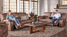 picture of Cindy Crawford Home Alpen Ridge Tan 5 Pc Reclining Living Room  from  Furniture