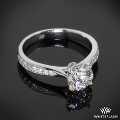 'Legato Sleek Line Pave' Diamond Engagement Ring.