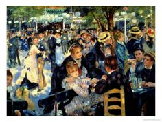 Ball at the Moulin De La Galette, 1876 by Pierre-Auguste Renoir. Giclee print from Art.com.