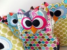 Owl rice bags (freeze for boo boos) @Barb Landvogt Or maybe monsters?
