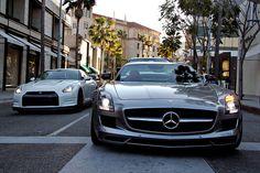SLS AMG & GT-R