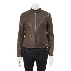Brown Leather Biker Jacket for £45.00 #fabfind