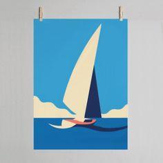 Trouva: Hey Studio Mist - Boat Art Print 30 x 40cm