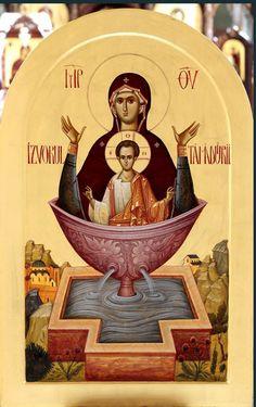 Calander, True Faith, Byzantine Art, Religious Icons, Orthodox Icons, Virgin Mary, Christ, Painting, Painting Art
