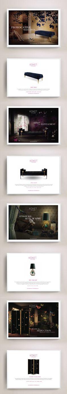 Discover Koket's elegant collection of exclusive furniture. decor trends 2015 elle decor furniture, black and gold furniture, living room design ideas, 2015 home decor trends