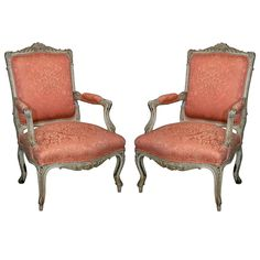 Pair French Bergere Chairs by Jansen | From a unique collection of antique and modern armchairs at http://www.1stdibs.com/seating/armchairs/