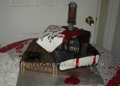 Awesome Halloween Graduation Cake... This website is the Pinterest of birthday cake ideas