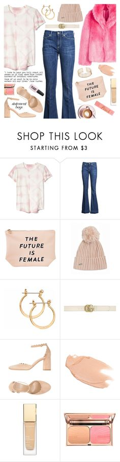 """""""Arm Candy: Statement Bags -- The Future is Female 1-2-2018"""" by anamarija00 ❤ liked on Polyvore featuring Gap, Dondup, Sonix, Calvin Klein, Gucci, Chloé, Too Faced Cosmetics, Martha Stewart, cute and bag"""