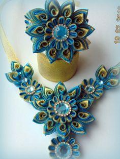 Kanzashi necklace. одноклассники
