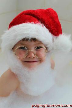 Bubble Santa Beard! A FUN Christmas photo idea!