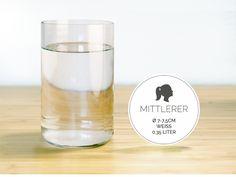MITTLERER / Ø 7-7,5CM / WEISS (Glas / Becher) von GLÄSERNE TRANSPARENZ auf DaWanda.com