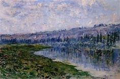 The Seine and the Chaantemesle Hills - Claude Monet