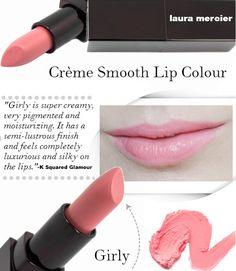 Laura Mercier Creme Smooth Lip Colors in Girly Review - #lauramercier #creamesmooth #lipstick #girly #softpink #pinklips #ksquaredglamour - bellashoot.com