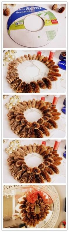 DIY: Corona de Navidad con piñas naturales