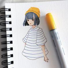 Liking the simplistic art style Ig: vang_gogh Cartoon Kunst, Cartoon Art, Posca Art, Arte Sketchbook, Cute Art Styles, Dibujos Cute, Art Hoe, Human Art, Sketchbook Inspiration